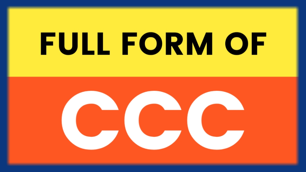 full form of ccc