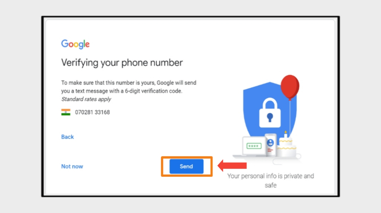Gmail Account Create Karne ke Liye Mobile Number Verify Kare